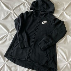 Black Nike Zip Up Warm Sweater